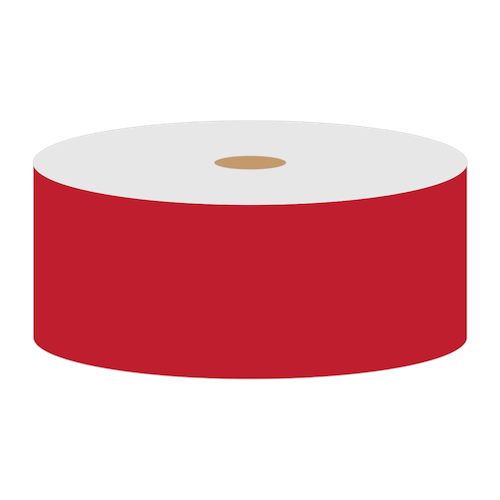 "TT230SM Red Reflective 2"" Continuous PET Vinyl Roll<br>(HT 558-00502)"