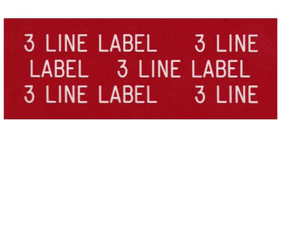 3-Line Printed Vinyl Label Designer<br>(UV materials)