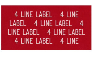 4-Line Printed Vinyl Label Designer<br>(UV materials)