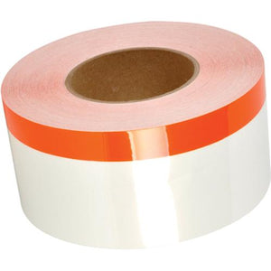"TT230SM White with Orange Stripe 4"" Continuous Vinyl Roll<br>(HT 558-00382)"