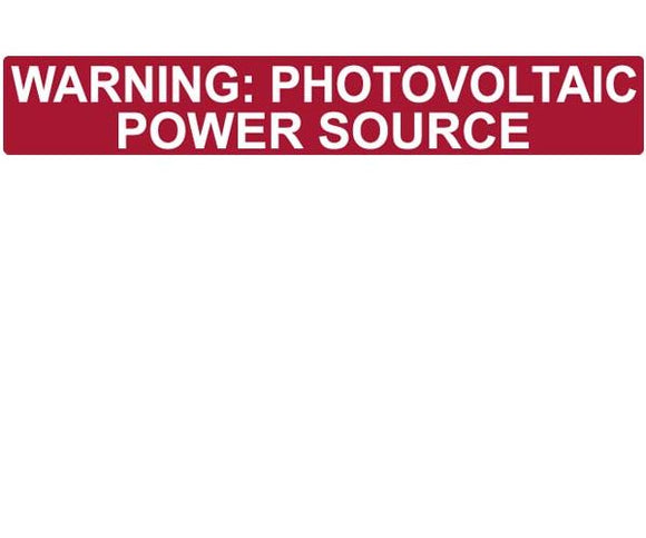 690.31E(3) PV Power Source Conduit Reflective Vinyl Label<br>(HT 596-00206)