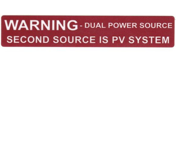 705.12(D)3 Dual Power Source Vinyl Label<br>(HT 596-00231)