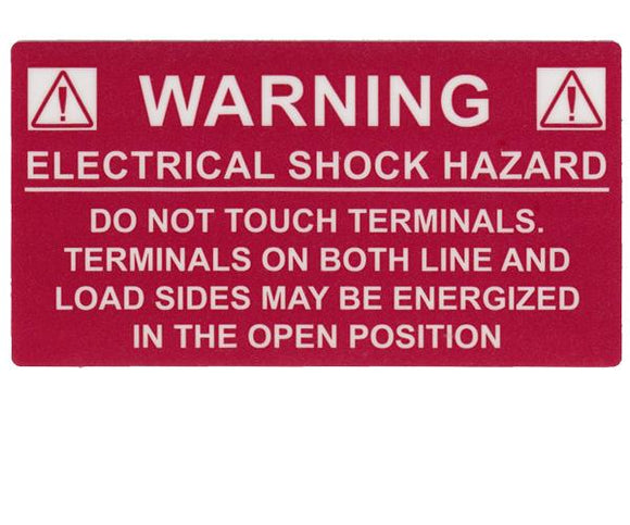 690.17 Switch or Circuit Breaker PV Warning Vinyl Label<br>(HT 596-00233)