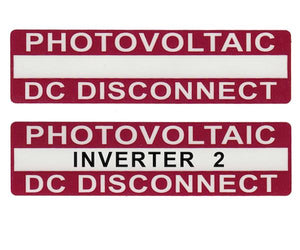 690.14(C)2dcs Photovoltaic DC Disconnect Vinyl Label<br>(HT 596-00238)