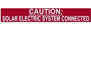 705.12 Solar System Connected Reflective Vinyl Label<br>(HT 596-00245)