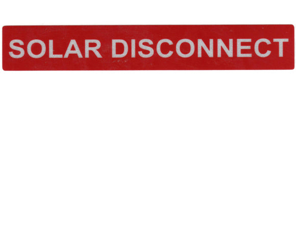 690.14 Solar Disconnect Reflective Vinyl Label<br>(HT 596-00246)