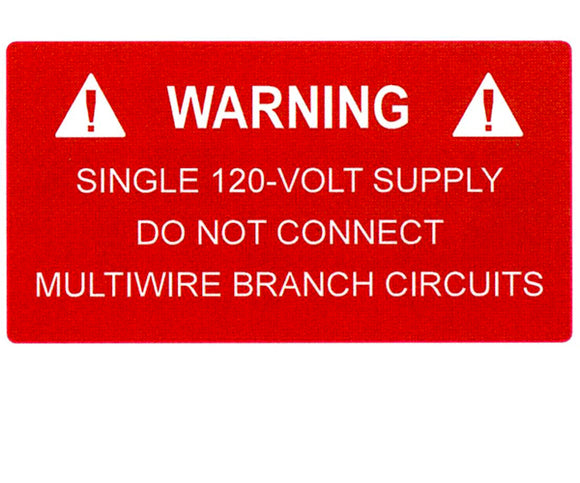 690.10(C) 120-volt Supply Vinyl Label<br>(HT 596-00325)