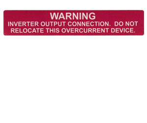 690.64(B)(7) Inverter Output Connection Vinyl Label<br>(HT 596-00368)