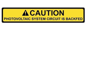 690.64 PV System Breaker Backfed Vinyl Label<br>(HT 596-00587)