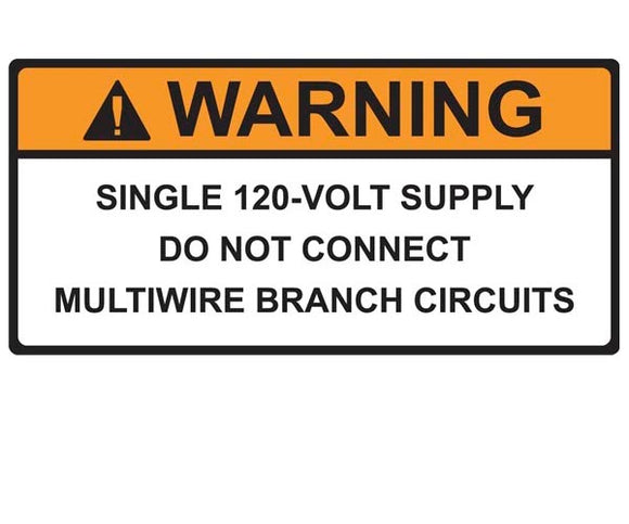 690.10(C) 120-volt Supply Vinyl Label<br>(HT 596-00591)