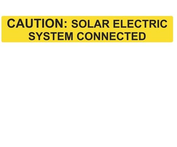 705.12 Solar System Connected Reflective Vinyl Label<br>(HT 596-00613)