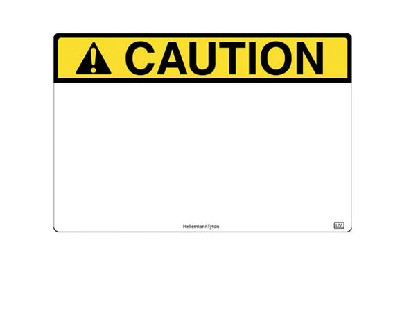 TT230SM White with Yellow CAUTION 2x3 Pre-Cut Vinyl Roll<br>(HT 596-00635)