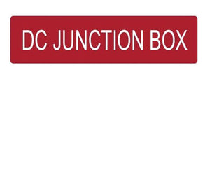 DC Junction Box Vinyl Label<br>(UV materials)