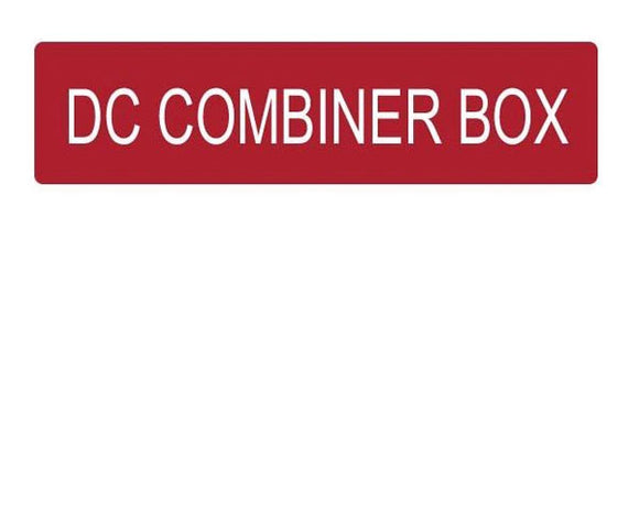 DC Combiner Box Vinyl Label<br>(UV materials)