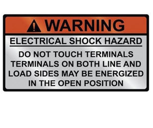 690.17 Switch or Circuit Breaker PV Warning Metal Label<br>(HT 596-00828)