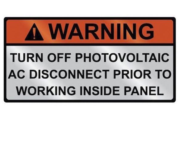 AC Warning Metal Label<br>(HT 596-00832)