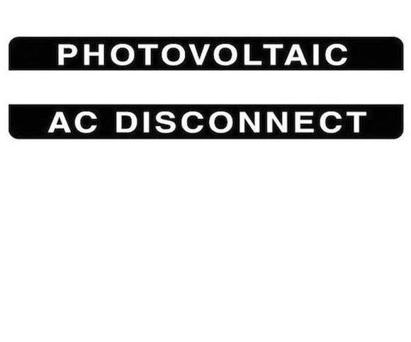 690.14(C)2acs Photovoltaic AC Disconnect Metal Label<br>(HT 596-00841)