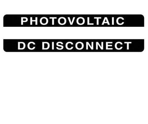 690.14(C)2dcs Photovoltaic DC Disconnect Metal Label<br>(HT 596-00842)