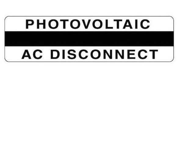 690.14(C)2acs Photovoltaic AC Disconnect Metal Label<br>(HT 596-00857)