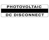 690.14(C)2dcs Photovoltaic DC Disconnect Metal Label<br>(HT 596-00858)