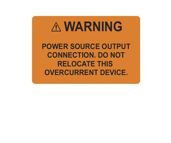 690.64(B)(7) Inverter Output Connection Vinyl Label<br>(HT 596-00883)