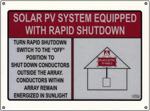 690.56 Rapid Shutdown Reflective Vinyl Placard<br>(HT 596-00886p)