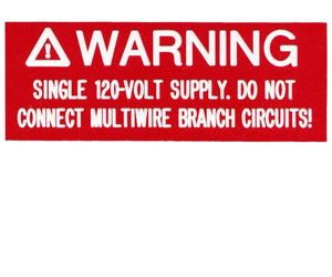 690.10(C) 120-volt Supply Engraved Label<br>(UV Acrylic)
