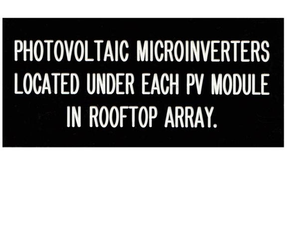 690.14(D)(4)m Microinverter Directory Engraved Label<br>(UV Acrylic)