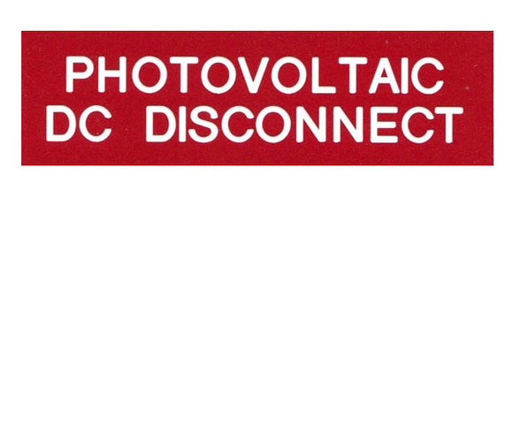 690.14(C)2dcs DC Solar Disconnect Engraved Label<br>(UV Acrylic)