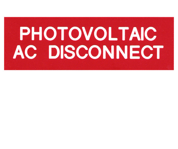 690.14(C)2acs AC Solar Disconnect Engraved Label<br>(UV Acrylic)