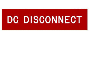 690.14(C)2dc DC Disconnect Vinyl Label<br>(UV materials)