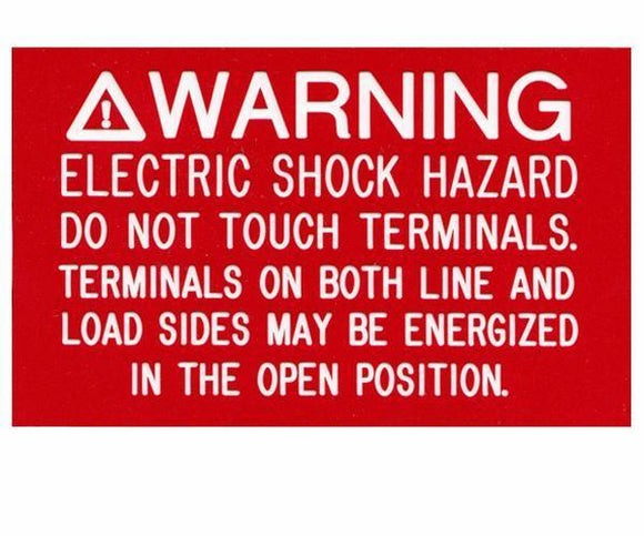 690.17 Switch or Circuit Breaker PV Warning Engraved Label<br>(UV Acrylic)