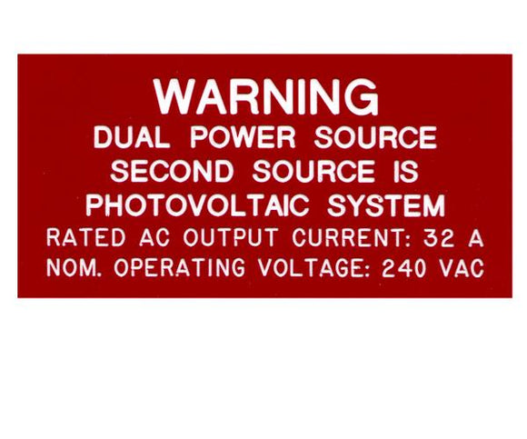 705.12 LADBS Dual Power Sources Engraved Label<br>(UV Acrylic)