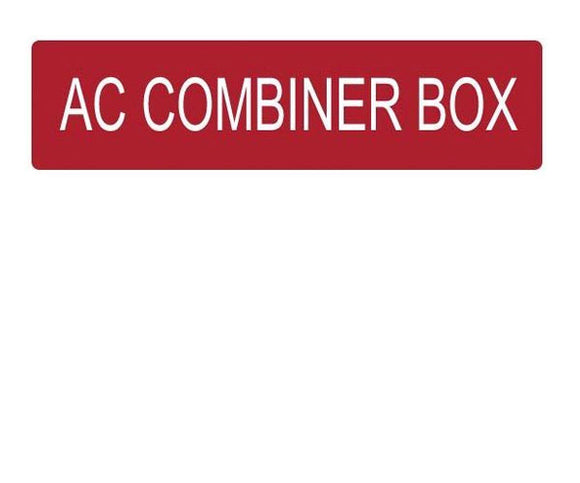 AC Combiner Box Vinyl Label<br>(UV materials)