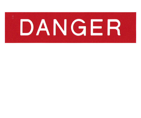 Danger Engraved Label<br>(UV Acrylic)