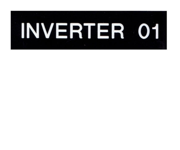 Inverter X Engraved Label<br>(UV Acrylic)