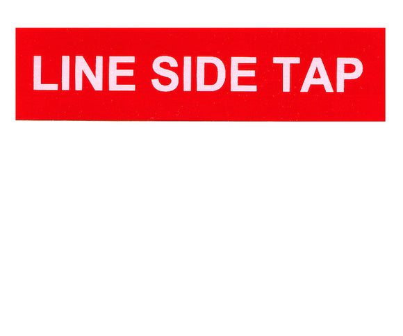 Line Side Tap Vinyl Label<br>(UV materials)
