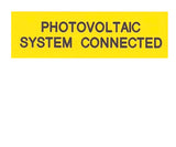 Photovoltaic System Connected Engraved Label<br>(UV Acrylic)