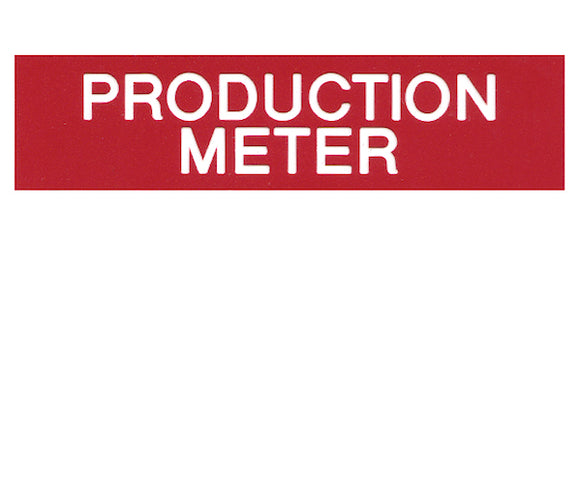 Production Meter Engraved Label<br>(UV acrylic)