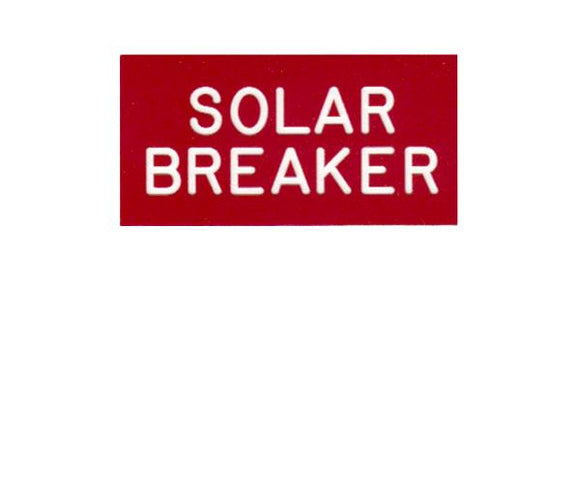 690.64 Solar Breaker Engraved Label<br>(UV Acrylic)