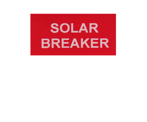 690.64 Solar Breaker Vinyl Label<br>(UV materials)