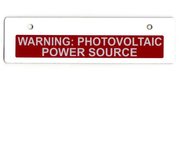 Cable Tray Solar Power Source Reflective Vinyl Label<br>(UV materials)