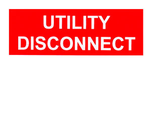 Utility Disconnect Vinyl Label<br>(UV materials)