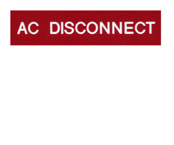 690.14(C)2ac AC Disconnect Engraved Label<br>(UV Acrylic)