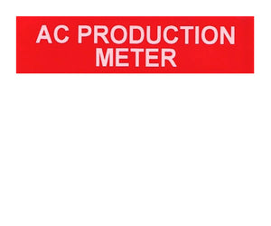 AC Production Meter Vinyl Label<br>(UV materials)