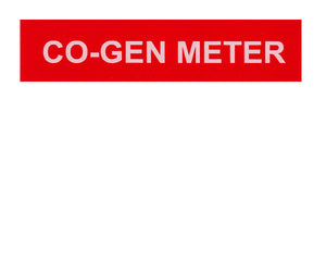 Co-Gen Meter Vinyl Label<br>(UV materials)