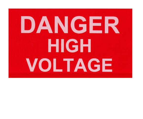 Danger High Voltage Vinyl Label<br>(UV materials)