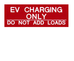 EV Charging Engraved Label<br>(UV Acrylic)