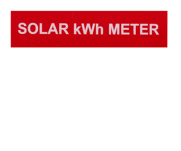 Solar kWh Meter Vinyl Label<br>(HT materials)