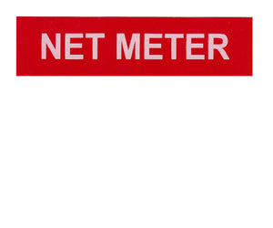 Net Meter Vinyl Label<br>(UV materials)